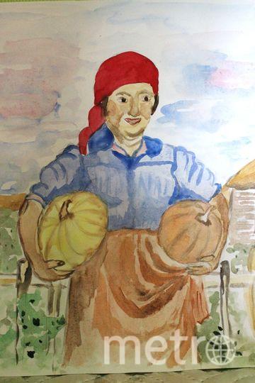 "Машков И.И. "" Колхозница с тыквами"". Фото Елена Ермичева"