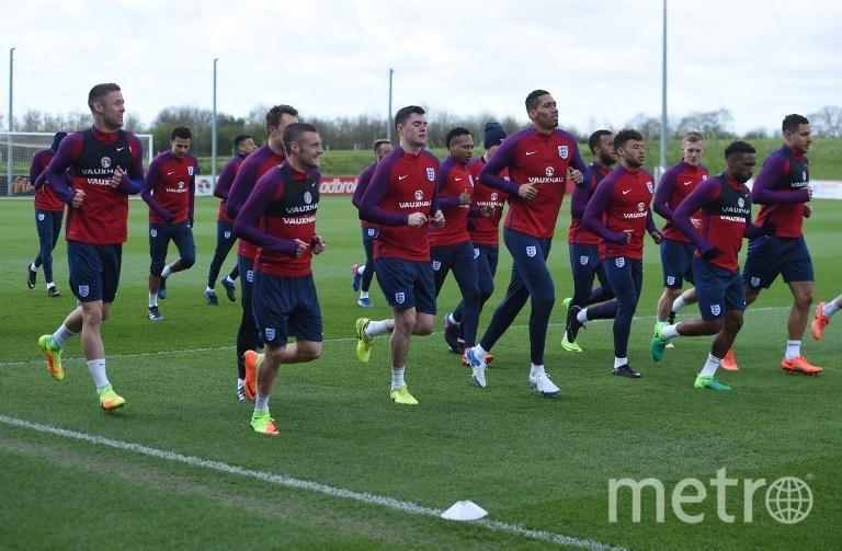 Тренировка сборной Англии перед матчем со сборной Германии 22.03.2017 года. Фото AFP