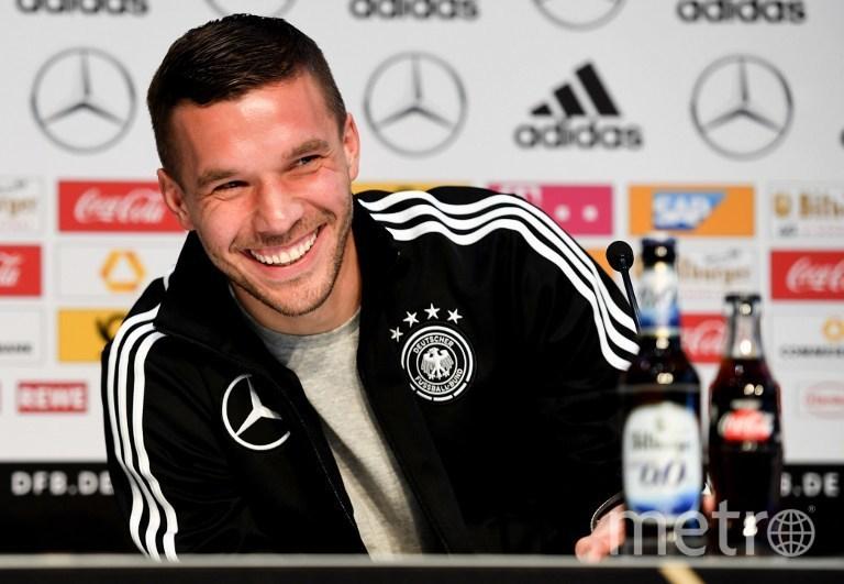 Немецкий футболист Лукас Подольски. Фото AFP