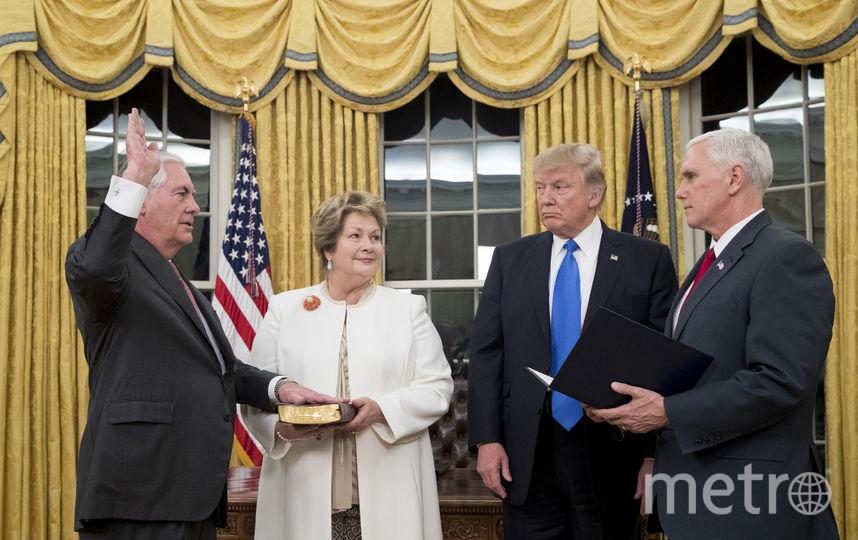 Рекс Тиллерсон в Овальном кабинете Белого дома. Фото Getty