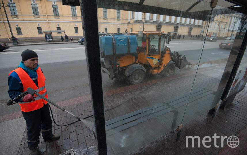 """В Петербурге улицы начали мыть с шампунем. Фото Святослав Акимов., """"Metro"""""""