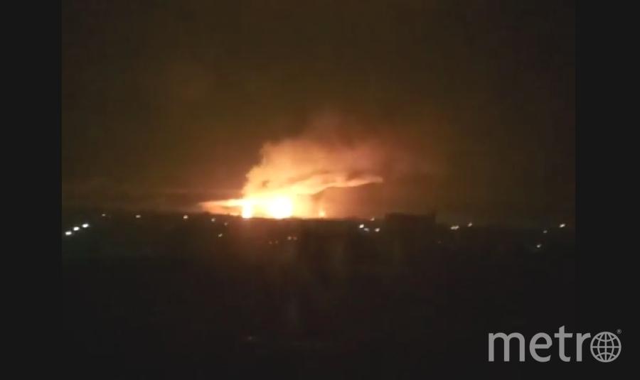 Взрывы в Харьковской области. Фото скрин-шот Youtube