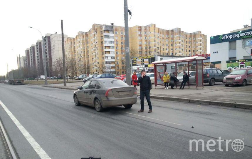 Пешехода насамокате сбила иностранная машина наШлиссельбургском проспекте