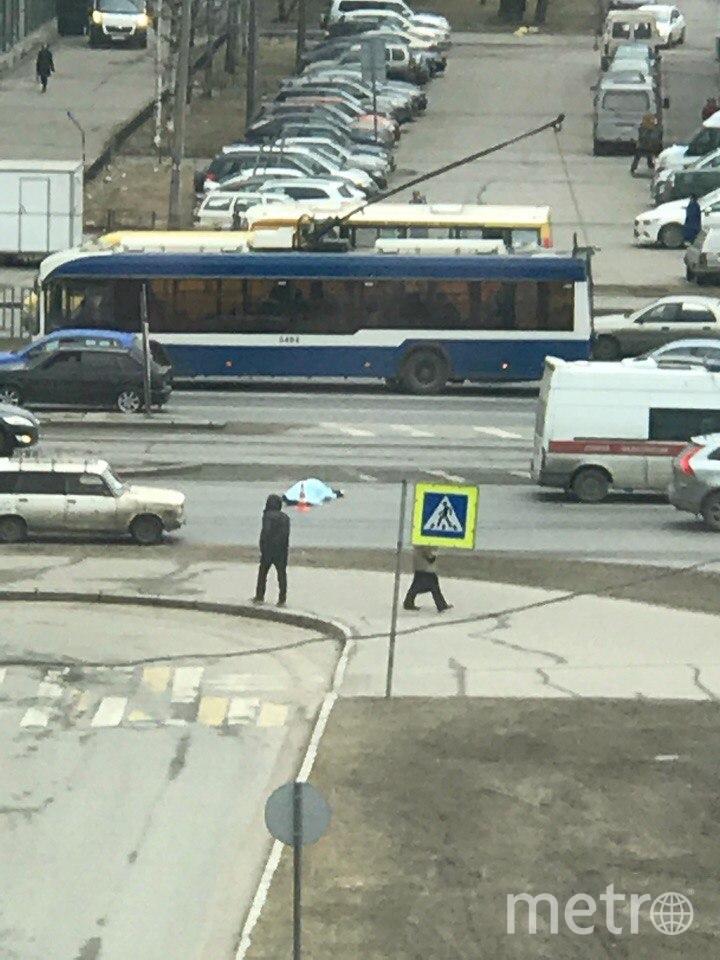 ДТП на Народной. Фото vk.com/spb_today., vk.com