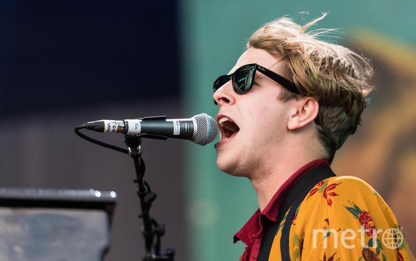 Том Оделл на фестивале Гластонбери в 2016 году. Фото Getty