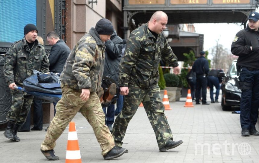 Место убийства Вороненкова в Киеве. Фото РИА Новости