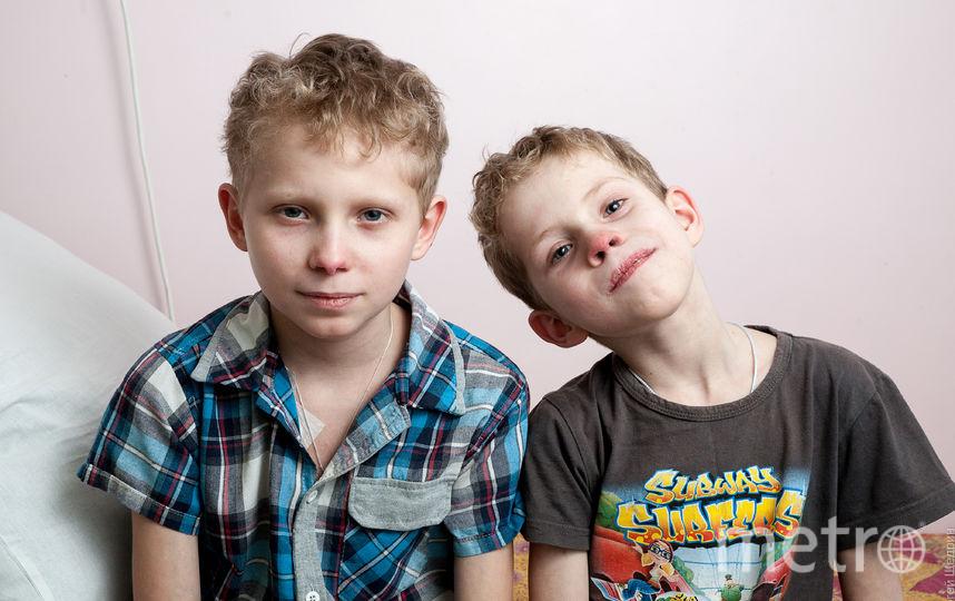 """Дима и Матвей. Фото предоставлено фондом """"Подсолнух"""""""