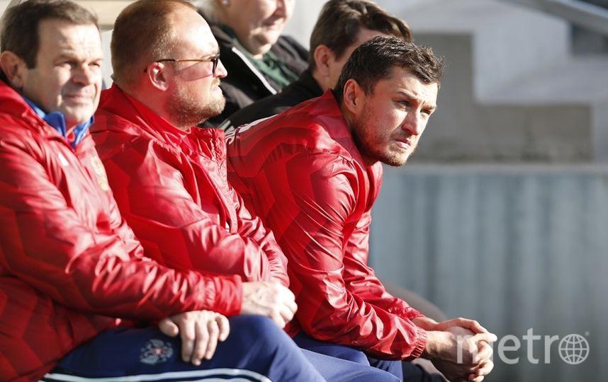 Тренировка сборной России по футболу перед матчем в Кот-д'Ивуаром, который пройдёт 24 марта 2017 года в Краснодаре. Фото http://www.rfs.ru/