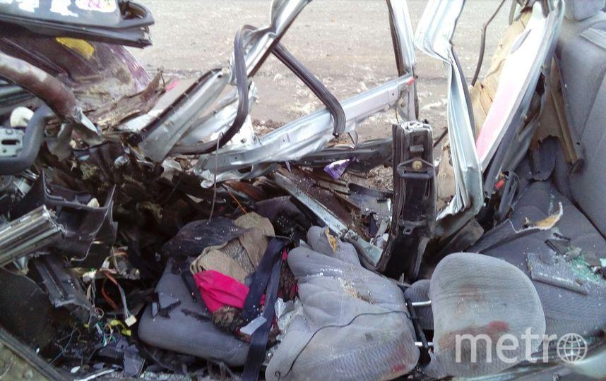 Очевидцы: Петербурженка скончалась в результате ДТП на Выборгском шоссе. Фото «ДТП и ЧП | Санкт-Петербург», vk.com