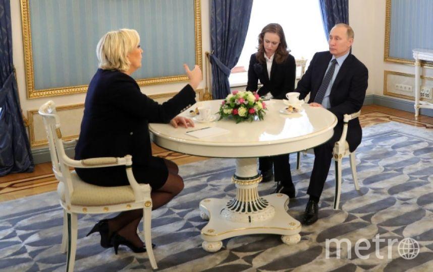 Марин Ле Пен и Владимир Путин. Фото РИА Новости