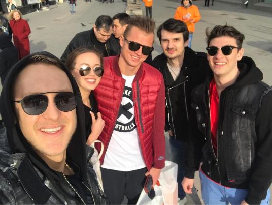 Дмитрий Тарасов и Анастасией Костенко и друзьями. Фото Instagram Дмитрия Тарасова