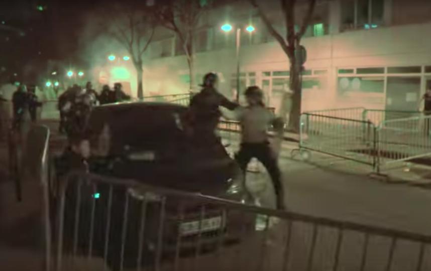 Беспорядки в Париже. Фото Скриншот Youtube