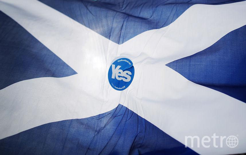 Флаг Шотландии. Фото Getty