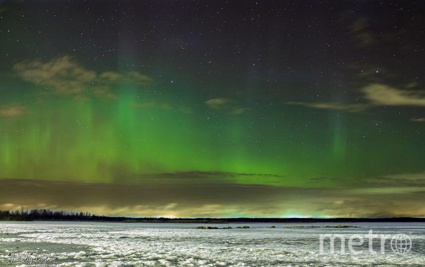Фото полярного сияния в Сестрорецке. Фото Анатолий Дошин vk.com/dam045, vk.com