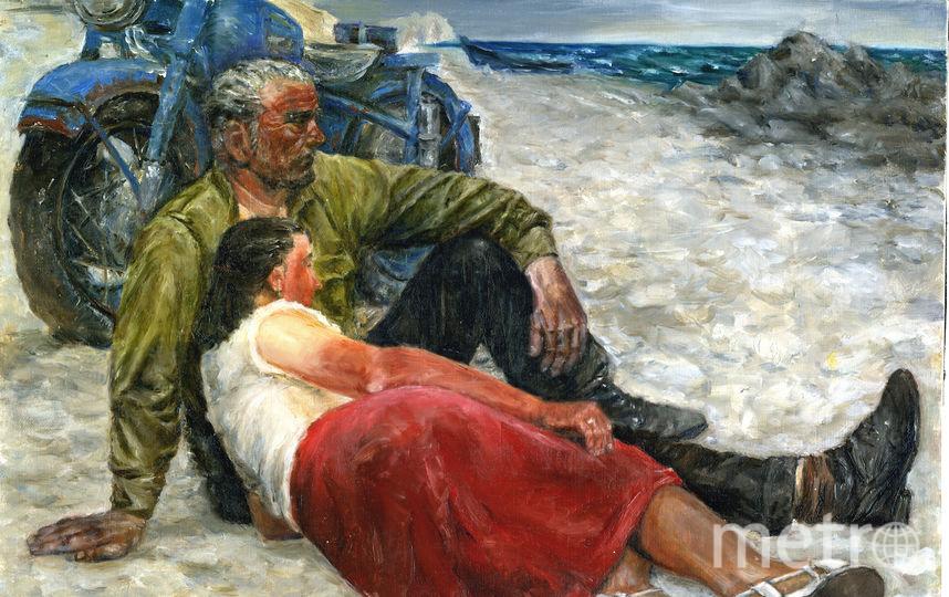 """Гелий Коржев """"Влюблённые"""" - копия маслом на холсте 50х40 см. Фото Мария Король"""