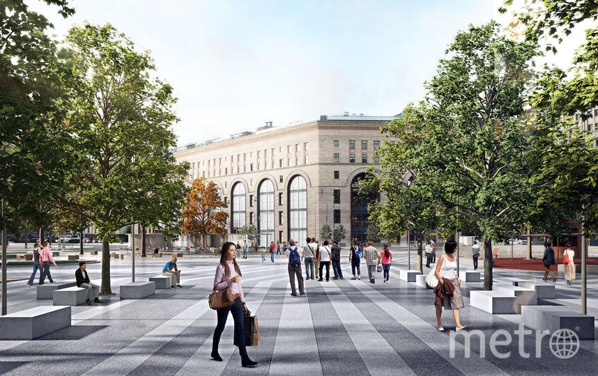 """На площади появится много новых деревьев. Фото КБ """"Стрелка"""", """"Metro"""""""