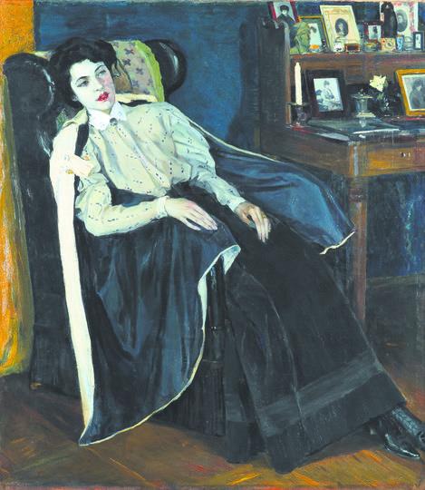 На фото 1904 года Ольга Нестерова запечатлена в выпускном платье. Портрет написан спустя год. Фото Предоставлены Третьяковской галереей.