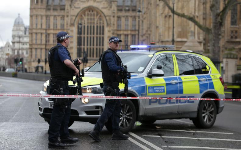 Кадры с места теракта в Лондоне. Фото AFP