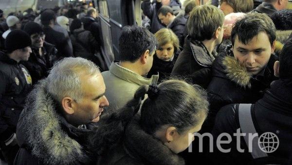 В Петербургском метро поезда следуют с увеличенным интервалом по синей ветке. Фото «ДТП и ЧП | Санкт-Петербург», vk.com
