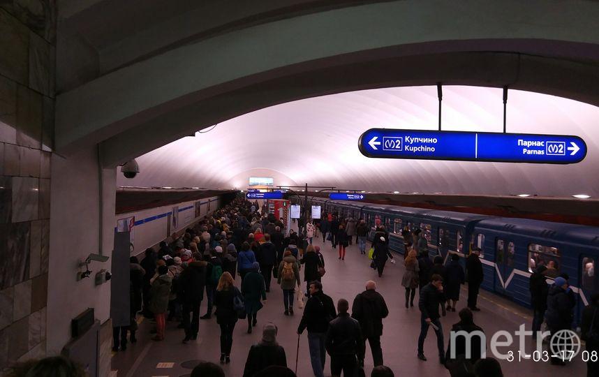 Работы на синей линии петербургского метрополитена завершаются. Фото «ДТП и ЧП | Санкт-Петербург», vk.com