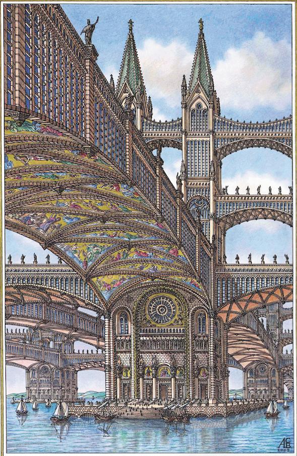 Морской город, расположенный  на гигантских мостах. Фото Артур Скижали-Вейс