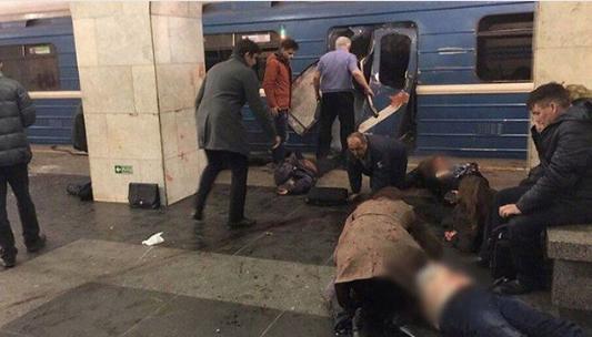 Кадры с места взрыва в петербургском метрополитене. Фото Instagram/narishakev