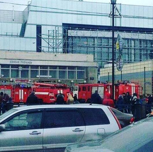 Кадры с места взрыва в петербургском метрополитене. Фото Instagram/komarovanata1979