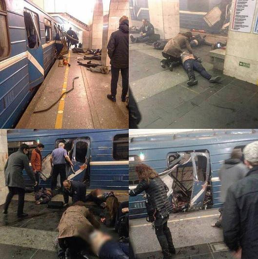 Кадры с места взрыва в петербургском метрополитене. Фото instagram/ksessssha