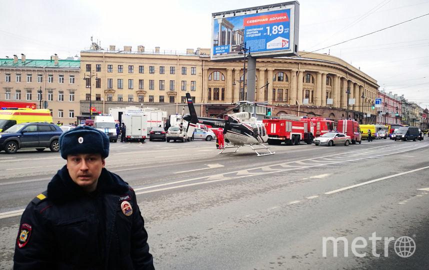 Взрыв бомбы в метро Санкт-Петербурга. Фото AFP