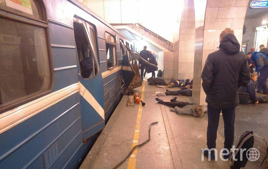 Подробности о взрыве в метро Петербурга 3 апреля сообщает корреспондент Metro. Фото vk.com