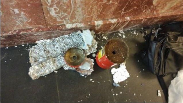 На станции метро «Площадь Восстания» найдено не сработавшее взрывное устройство. Фото РЕН ТВ