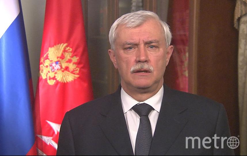 Выступление губернатора Петербурга: Полтавченко обратился кжителям города