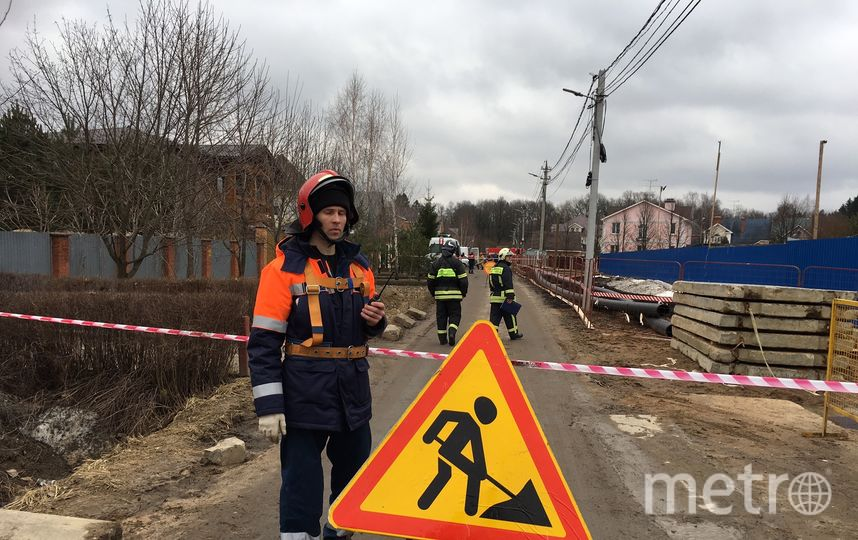 """Фото с места аварии. Фото """"МОСГАЗ"""""""