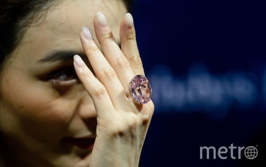 "Бриллиант ""Розовая звезда"". Фото AFP"