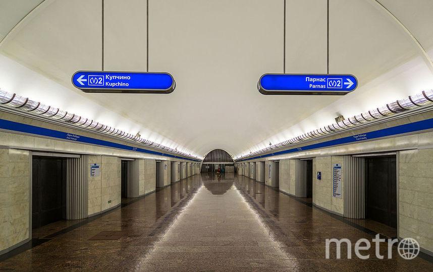 Станция метро «Парк Победы» вПетербурге закрыта навход ивыход