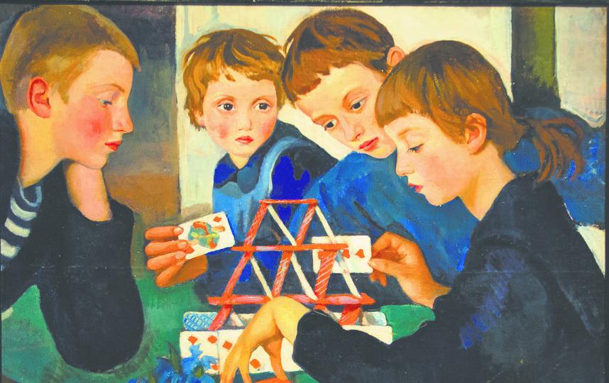 """Картина """"Карточный Домик"""" (1919). Фото Илья Ордовский-Танаевский"""