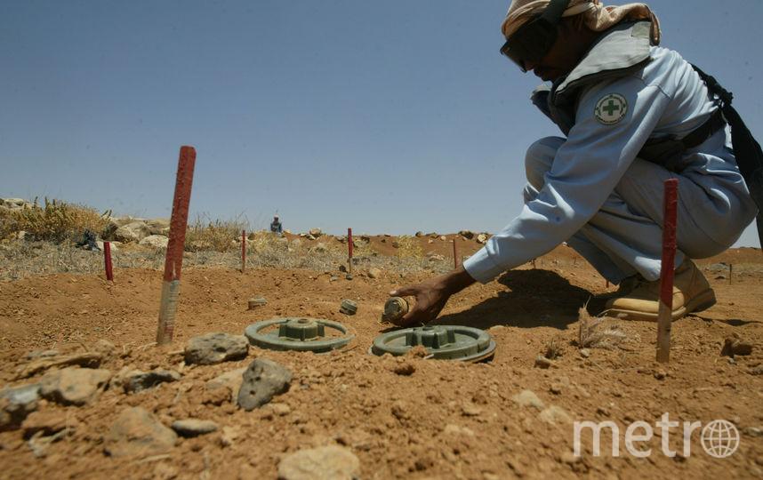 Разминирование сирийский территорий. Фото Getty
