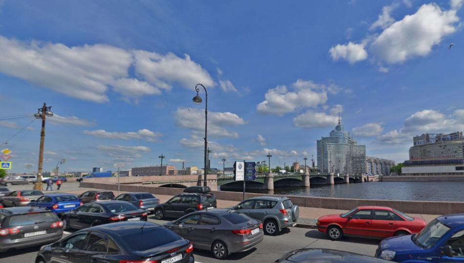 Сампсониевский мост. Фото скриншот Яндекс.Панорамы.