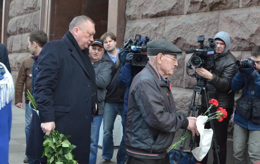 """У станции """"Технологический институт"""" 4 апреля. Фото """"Metro"""""""