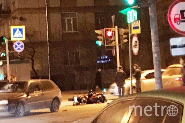 Три мотоциклиста попали вДТП вПетербурге за несколько часов
