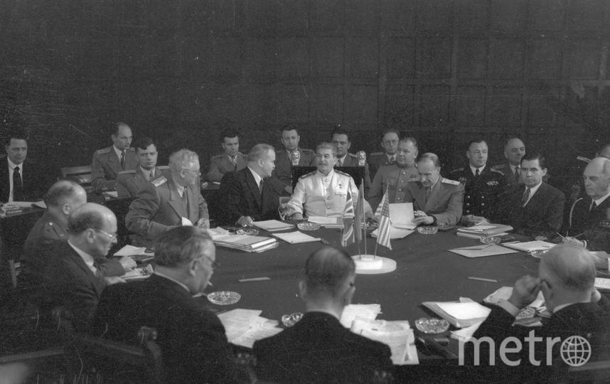 Потсдамская конференция. Июль. 1945. Фото представлены Анной Халдей.