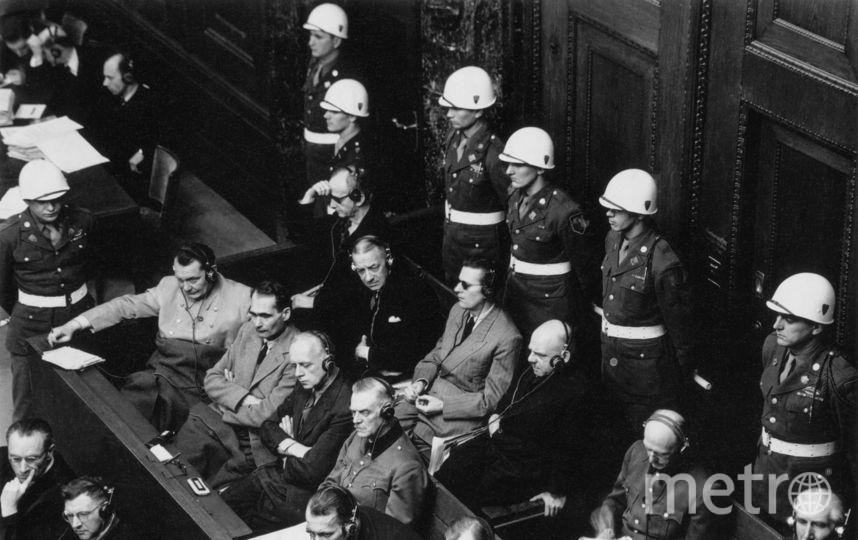 Военные преступники на Нюрнбергском процессе. Нюрнберг. 1946. Фото представлены Анной Халдей.