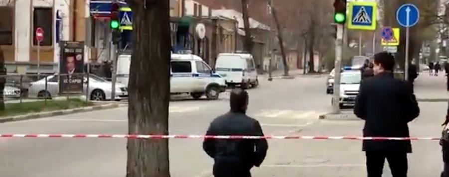 Оцепление после взрыва. Фото Скриншот Youtube