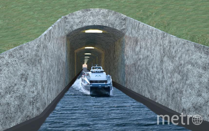 Проект судоходного морского тоннеля. Фото AFP