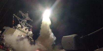 США нанесли первый ракетный удар по Сирии — видео
