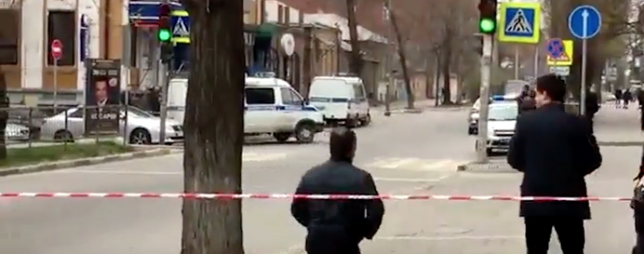 Место взрыва. Фото Скриншот Youtube