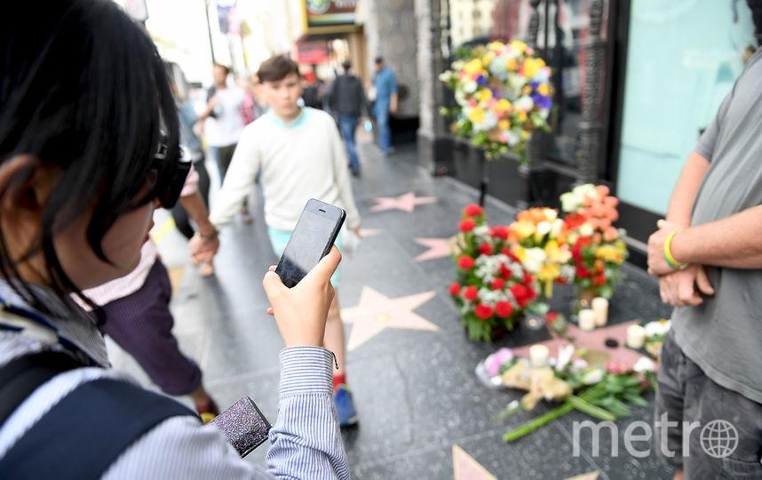 К звезде славы на Аллее в Голливуде несут цветы. Фото Getty