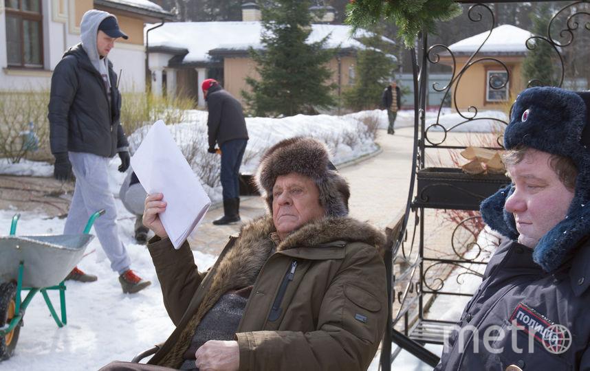 Константин Крюков и Владимир Меньшов на съёмках. Фото Александр Алешковский