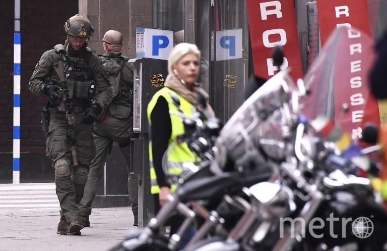 Фото с места происшествия. Стокгольм. Фото AFP