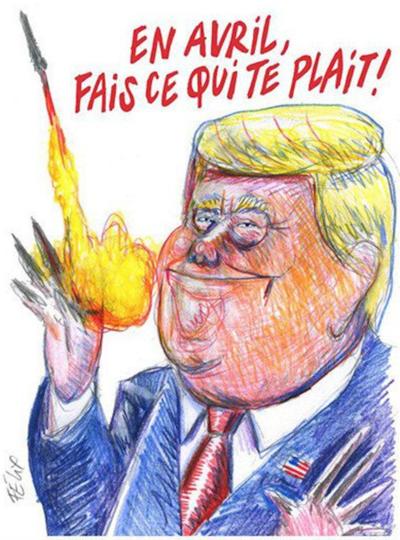 Карикатура Charlie Hebdo. Фото скриншот twitter.com/sofiyaasher